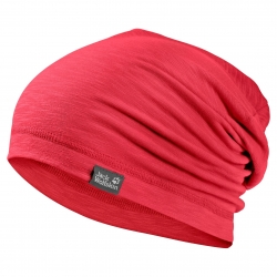 Шапка TRAVEL BEANIE TULIP RED JACK WOLFSKIN